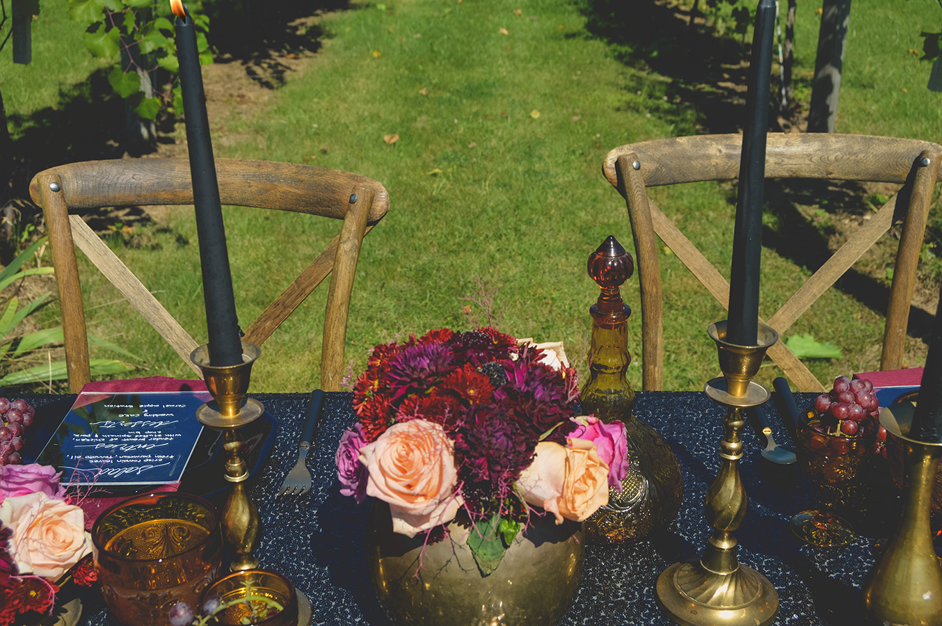 fall wedding gold black wedding black wedding