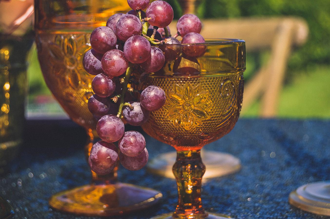 vintage gold drinkware wedding vintage fall wedding