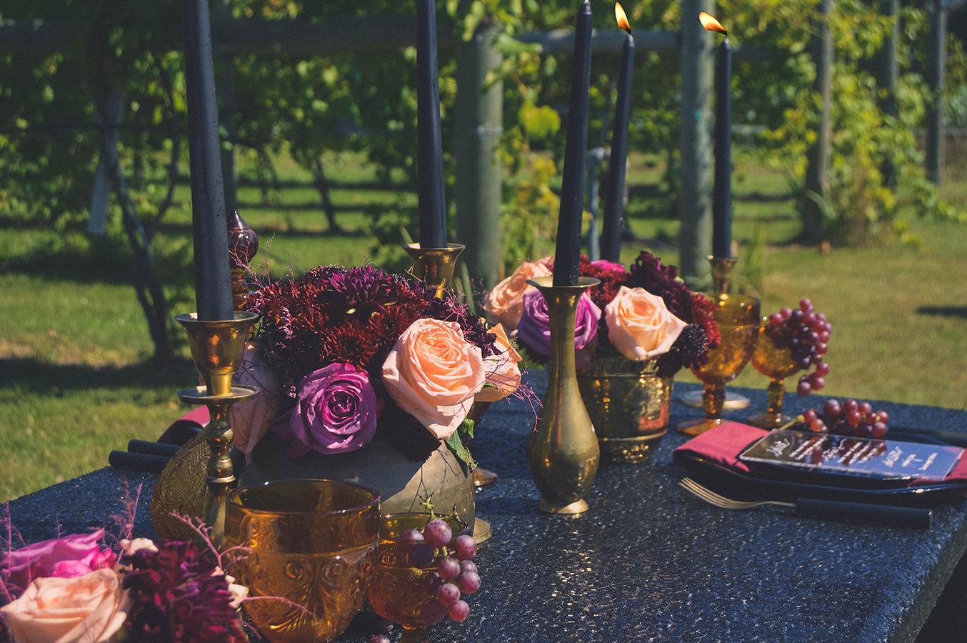 fall vineyard wedding glam vintage wedding