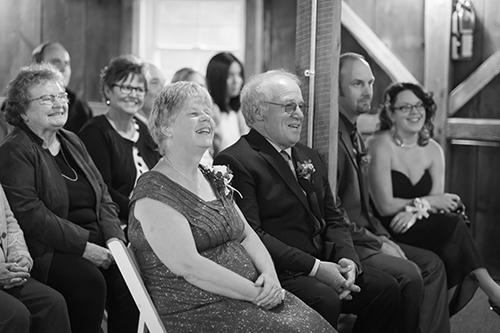 happy wedding guests wisconsin love wedding