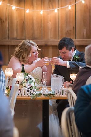 brdie and groom first toast