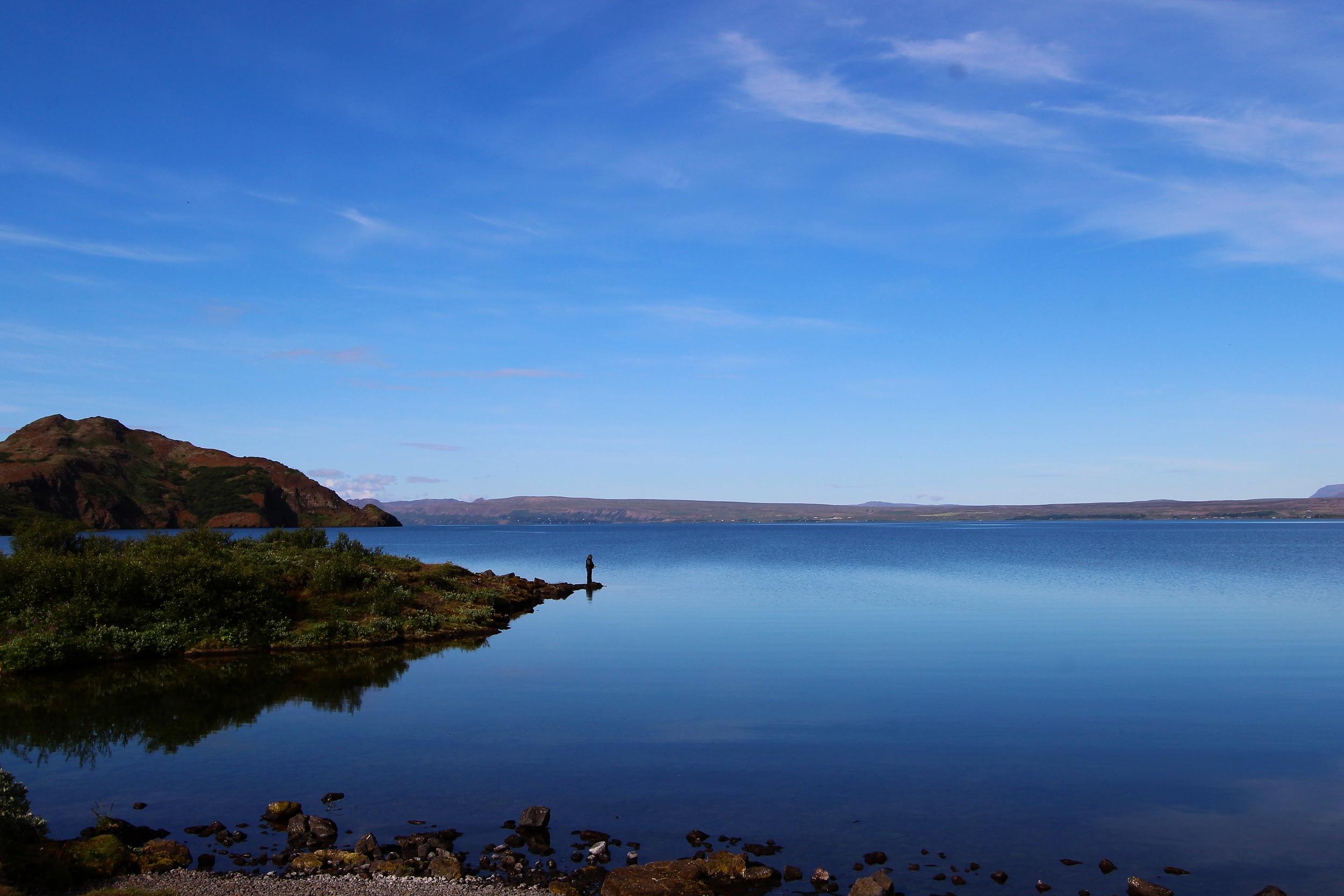 Þingvellir National Park - Lone Fisherman