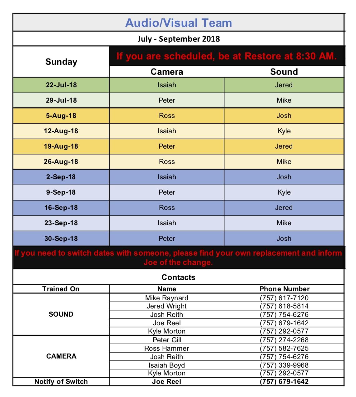 A:V Schedule July-September 2018.jpg