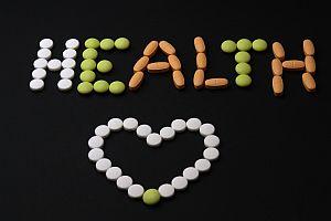 pills on black