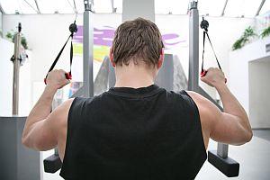 behind gym man