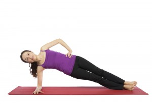 Side plank for runners