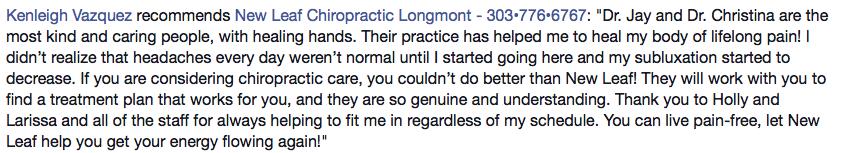 Best Longmont Chiropractor
