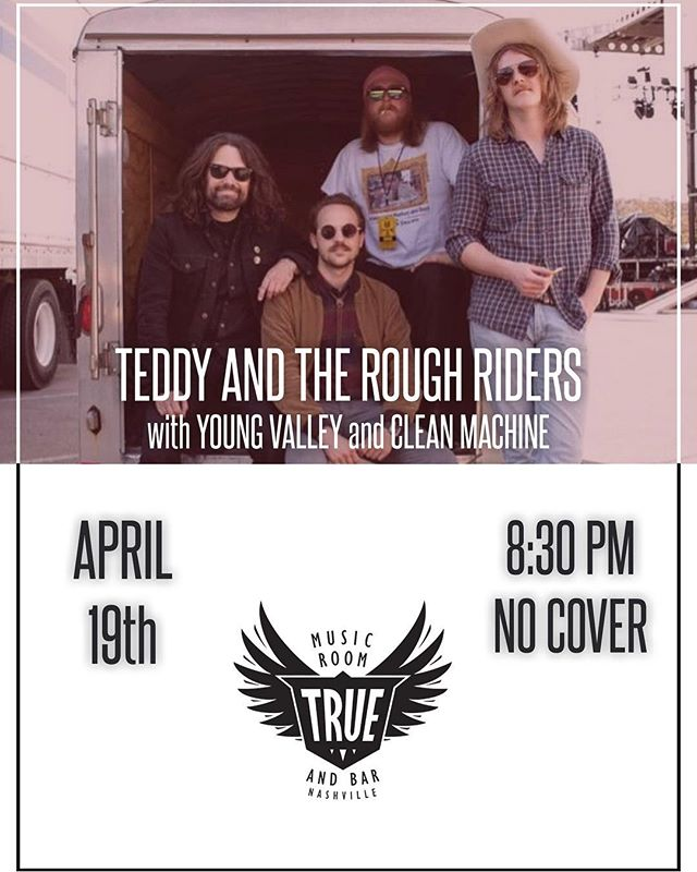 Doin a thing with @teddyandtheroughriders and @themvalleyboys on the free free at @truemusicroom this good Friday 4/19. We are opening at 8:30. Cheers!  #instamusic #instalove #instaartist #nashville #musiccity #music #rocknroll #musician #musicman #love #follow #happy #us #nashville #indie #psychedelic #nashpotatoville #tennessee #livemusic #tnbch #vinyl