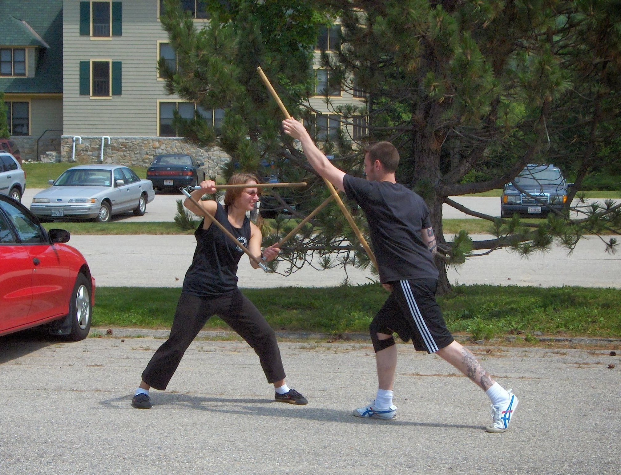Jess and Mike - 3 Section vs Staff - 2005