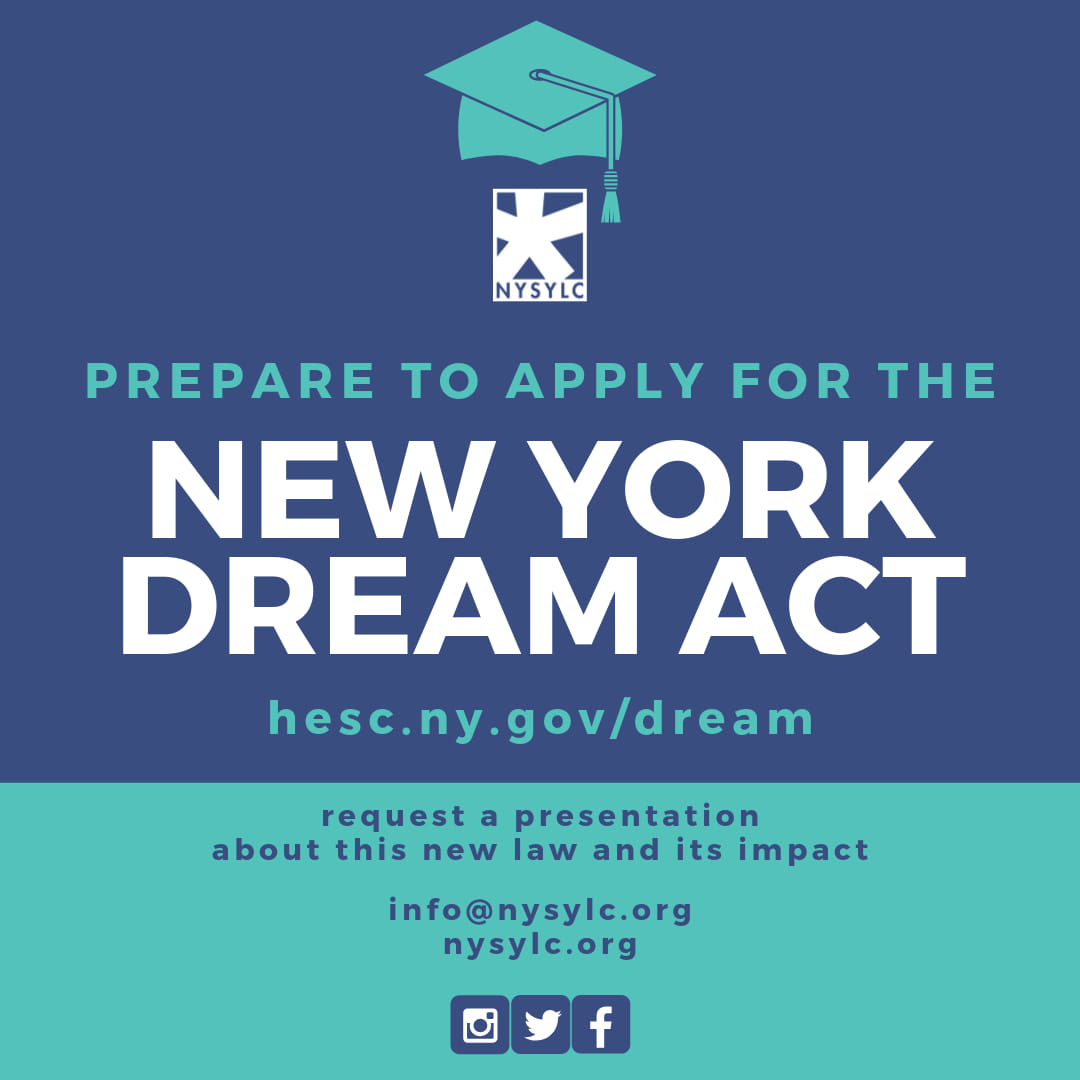 Apply for the New York Dream Act Now! - The application for the NY Dream Act is open now. Apply today and reach out to us if you need support.