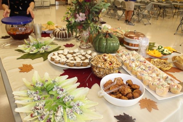 Host Committee provided Fall Foods and Decoration
