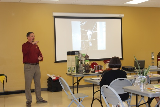 Speaker John Fagala with Wild Birds Unlimited speaking on how to attract birds to your garden.