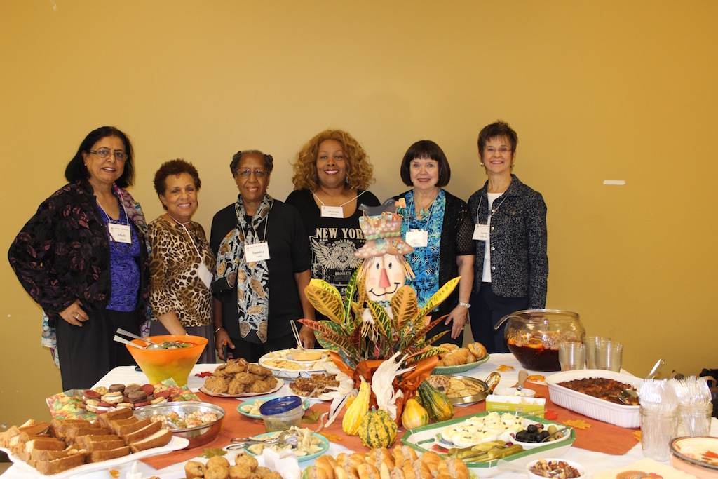 November Hosts: L to R - Mally Samee, Barbara Davis, Sandra Smith, Helena Spain, Linda Holder and Penny Johnson