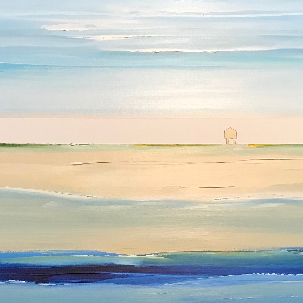 SILENT beach   |  beach 01.                                                acrylic on canvas 24 x 36 - nfs
