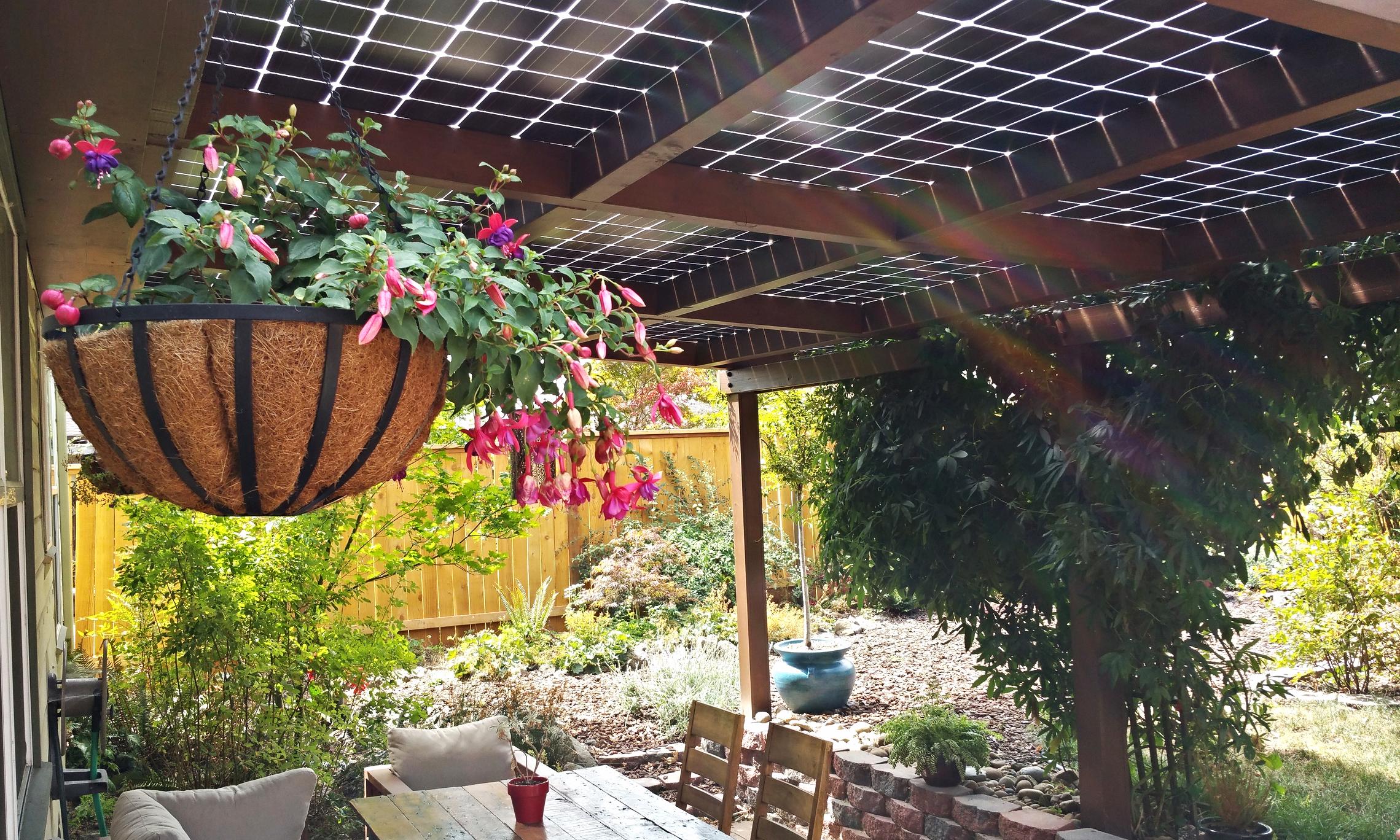 3.6kW bi-facial solar patio cover - Portland, Oregon