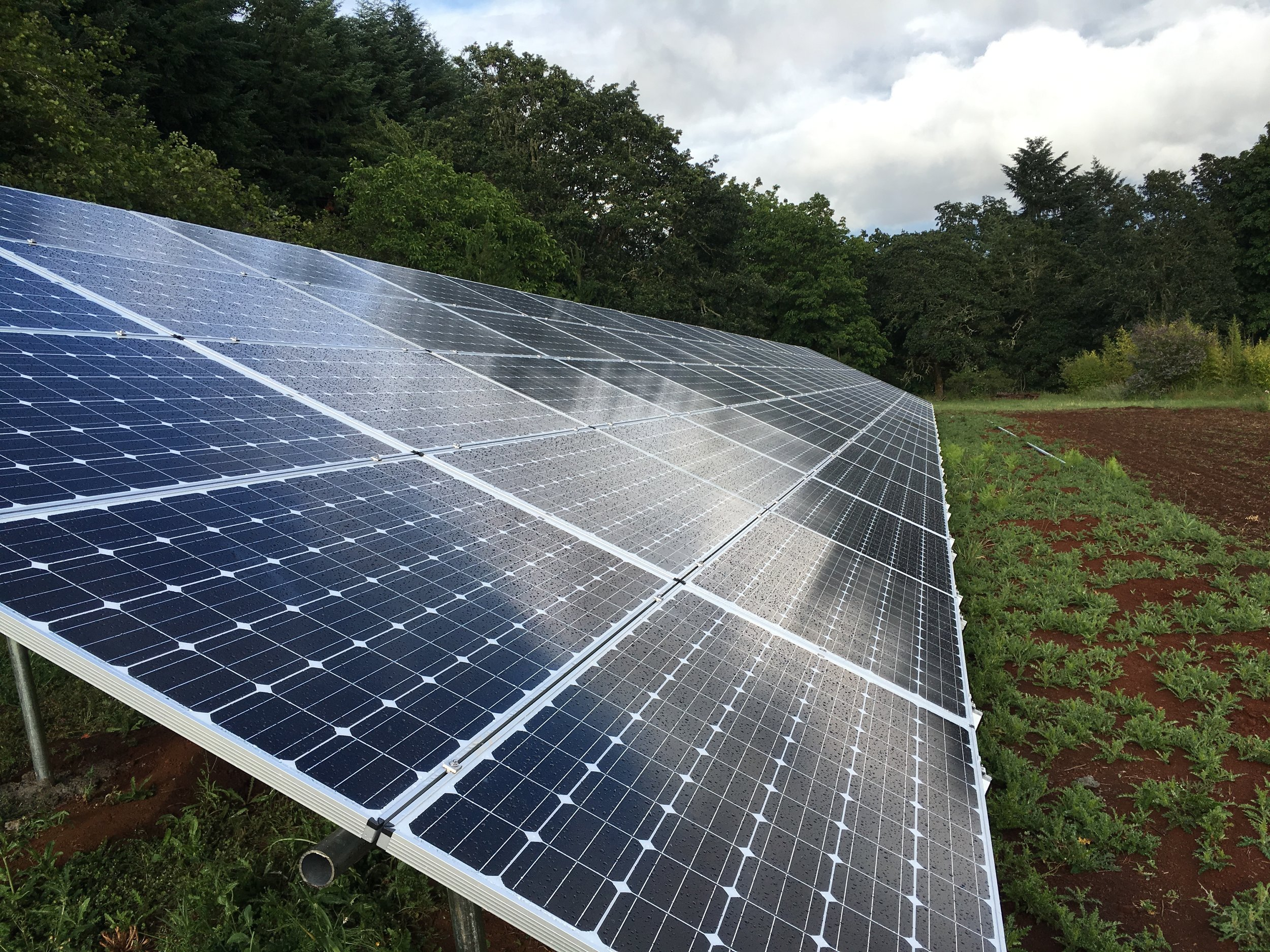 Elemental Energy - Log Homes Store Vineyard - 31kW ground-mounted Solar PV System