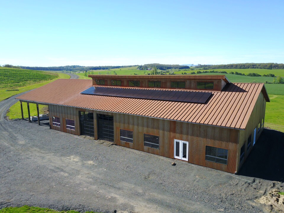 13.11 kW Solar PV System - Andante Vineyards - Oregon Solar - Elemental Energy