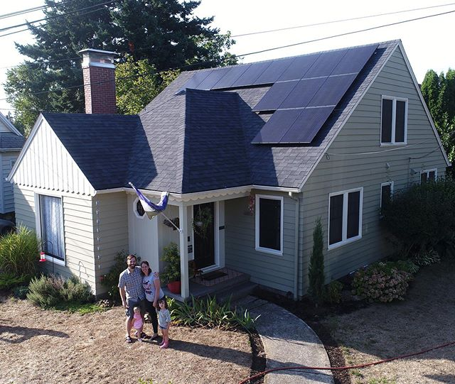 It's all smiles for this Portland family now that their average electricity bill is only $20/month!