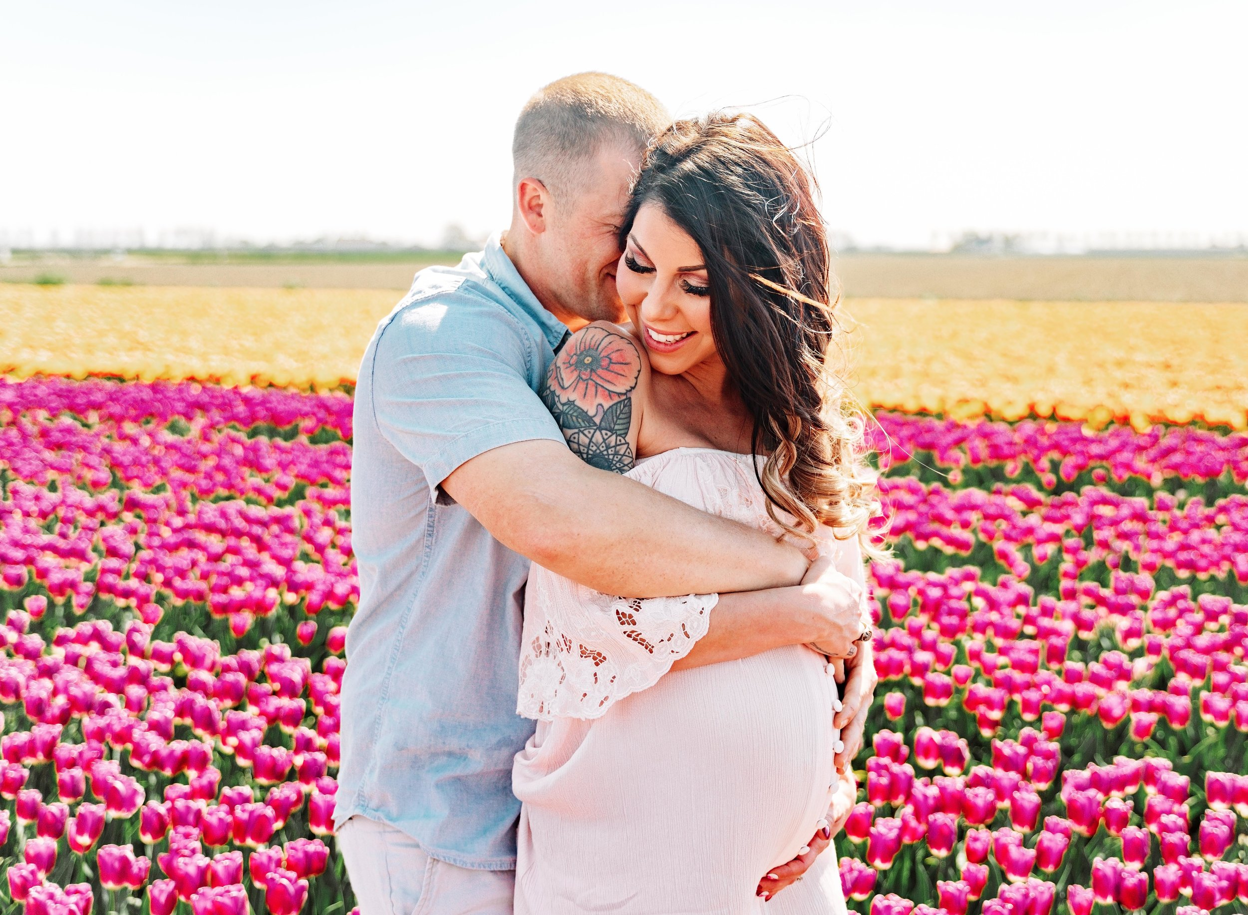 ramstein kmc  couple photography in tulip fields in Netherlands