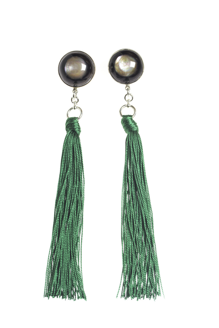 Buffalo Horn Tassel Earrings