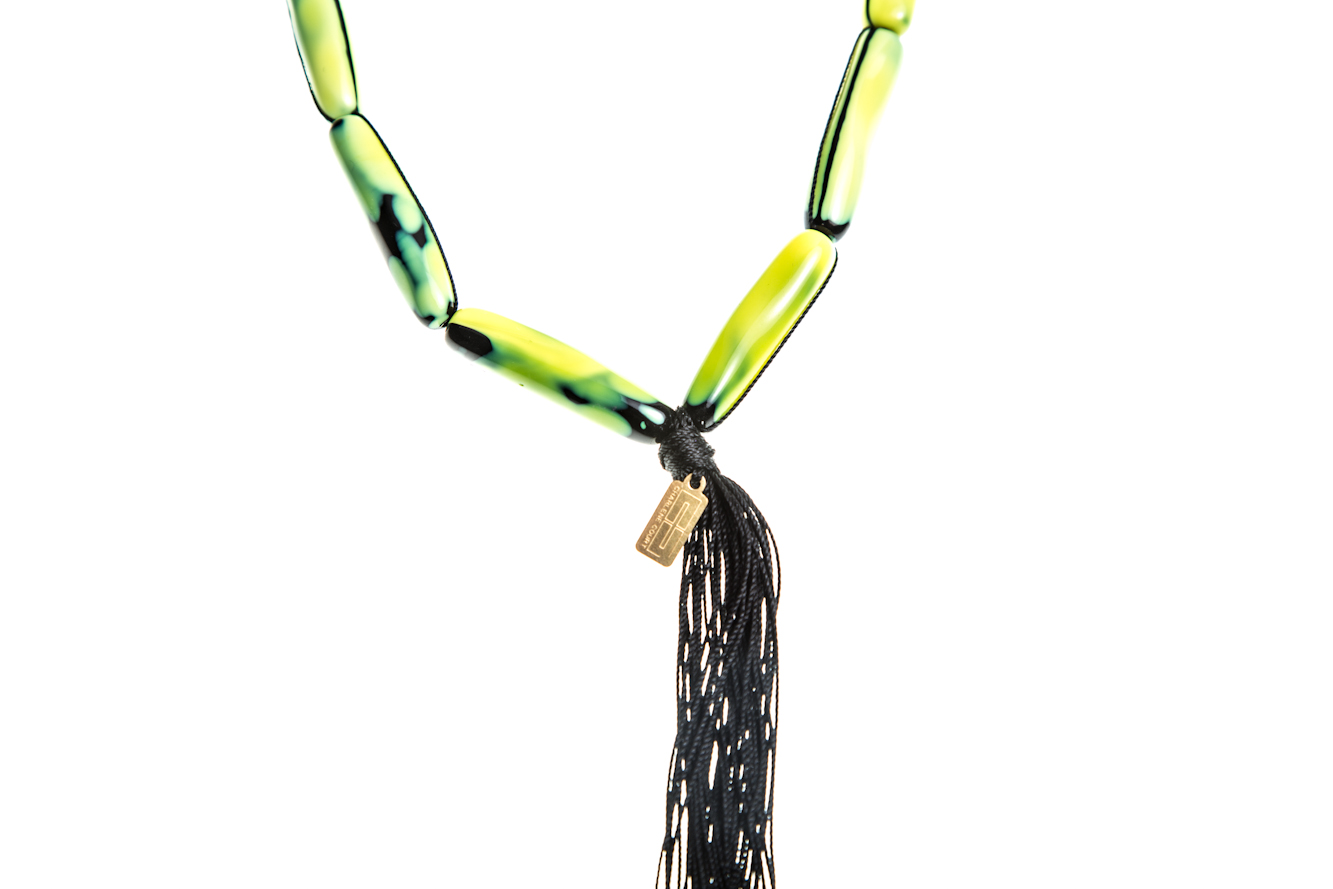 Chartreuse Austrian Glass Necklace