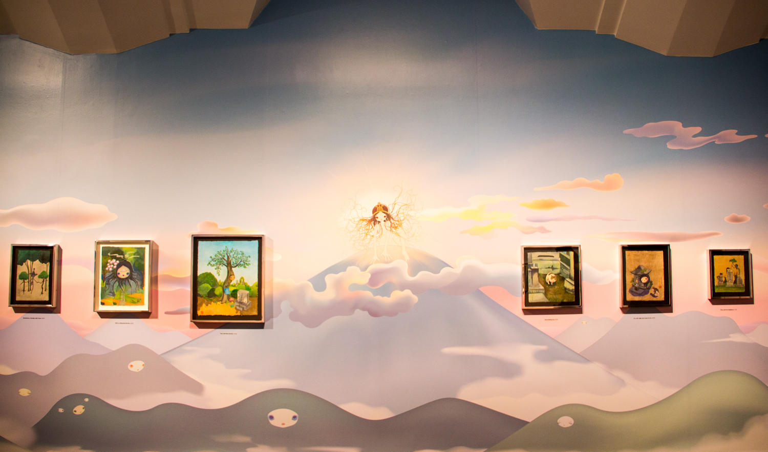 """""""Chiho Aoshima: Rebirth of the World"""" exhibit at the Seattle Asian Art Museum."""