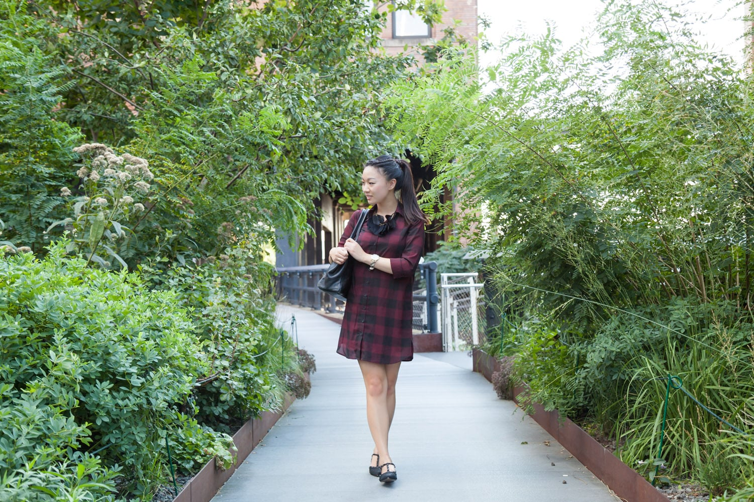 Walking the NYC High Line.