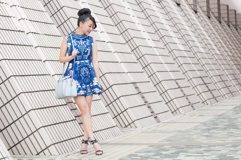 Blue SheIn Dress via The Chic Diary