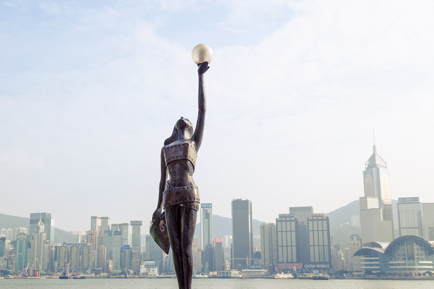 Avenue of the Stars, located along the Victoria Harbour waterfront in Tsim Sha Tsui.