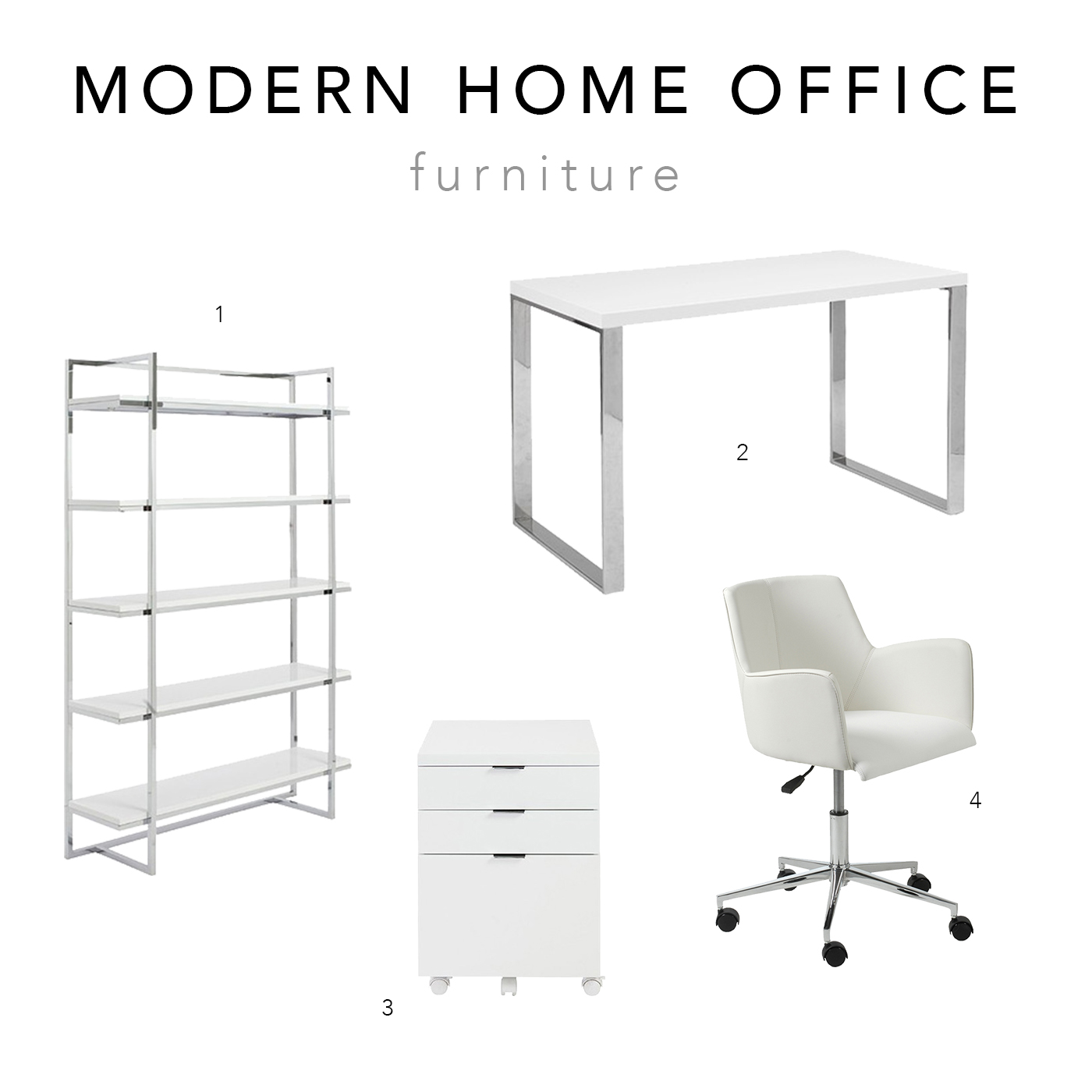 Dot & Bo Modern Home Office Furniture | via The Chic Diary