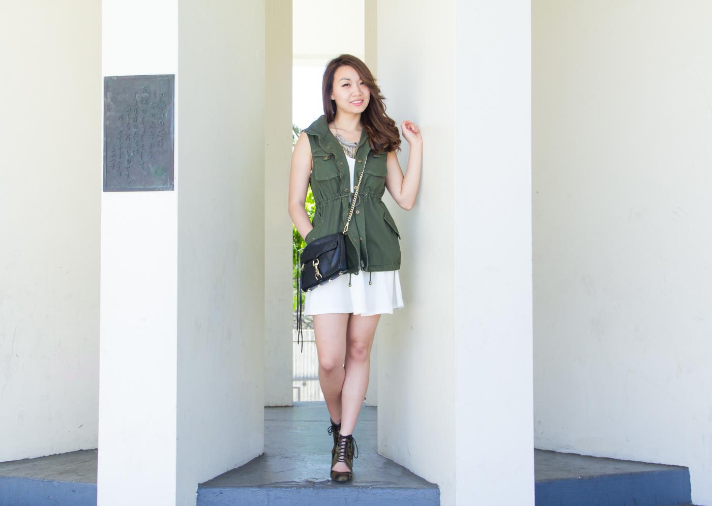 Feminine military style   via The Chic Diary