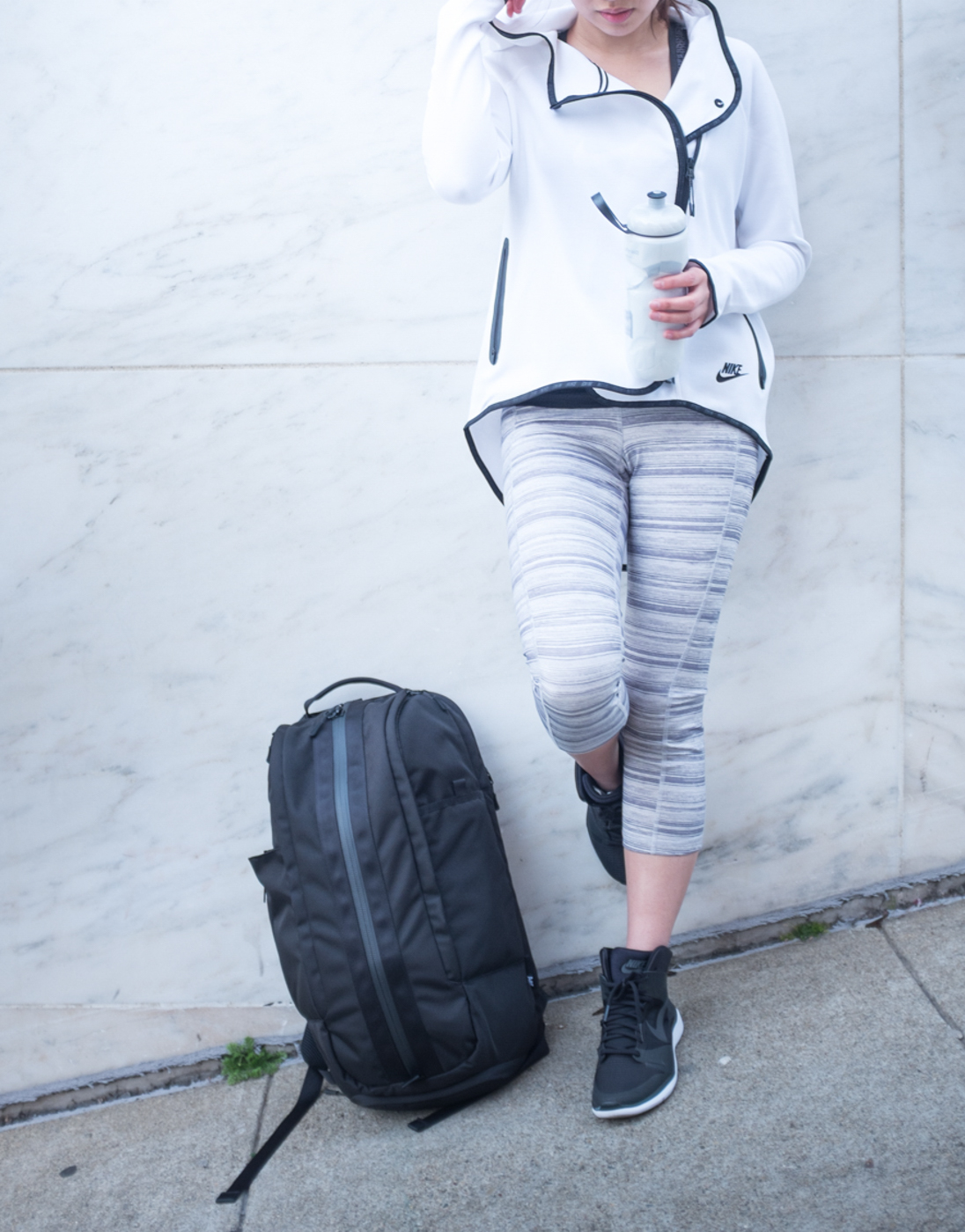 Your items are organized with The Duffel Pack's many compartments. | via The Chic Diary