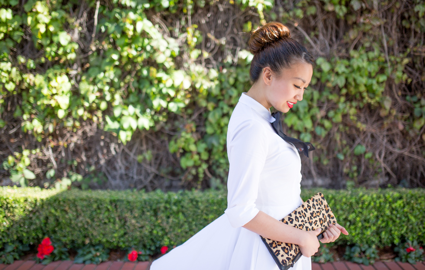 Express White Shirt Dress | via The Chic Diary