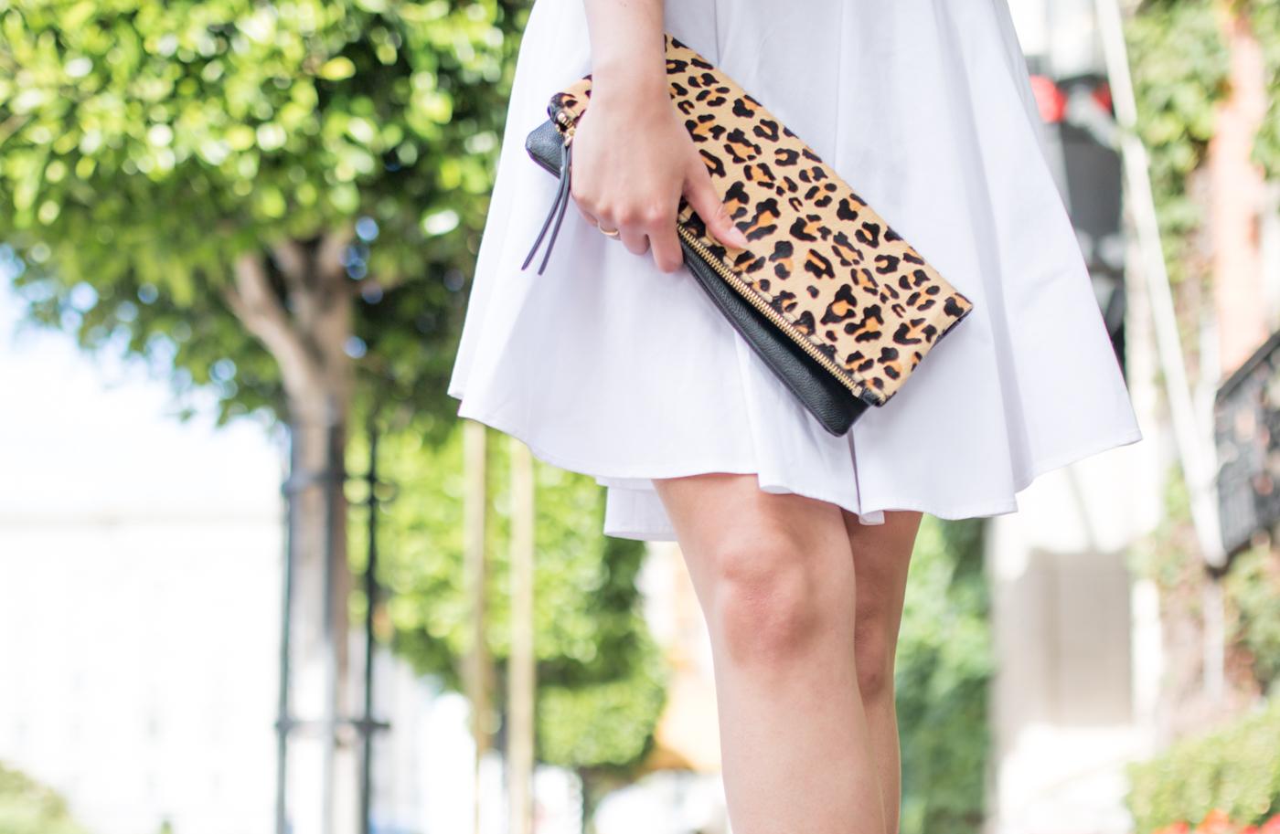 Banana Republic Leopard Clutch | via The Chic Diary
