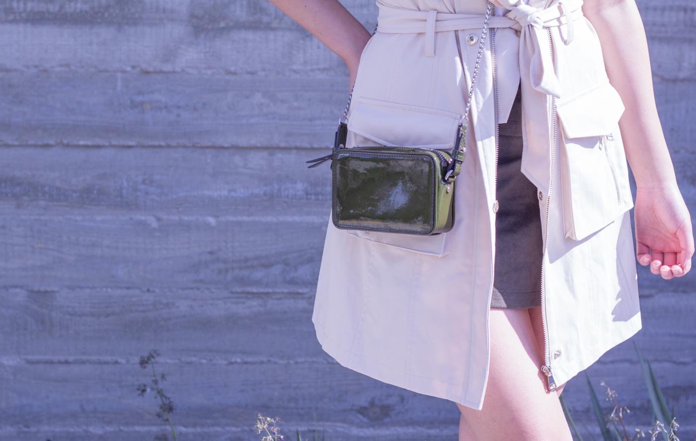 Banana Republic olive crossbody bag   via The Chic Diary