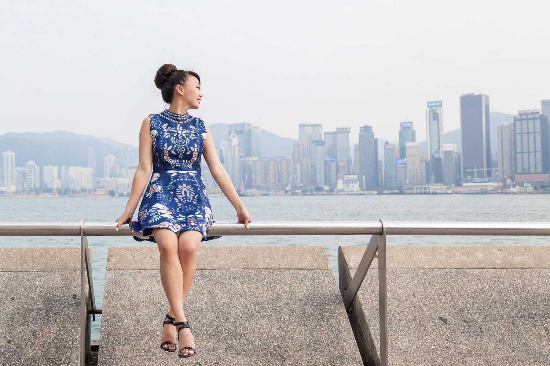 02.25.16: Lady in Blue | Embellished A-Line Dress
