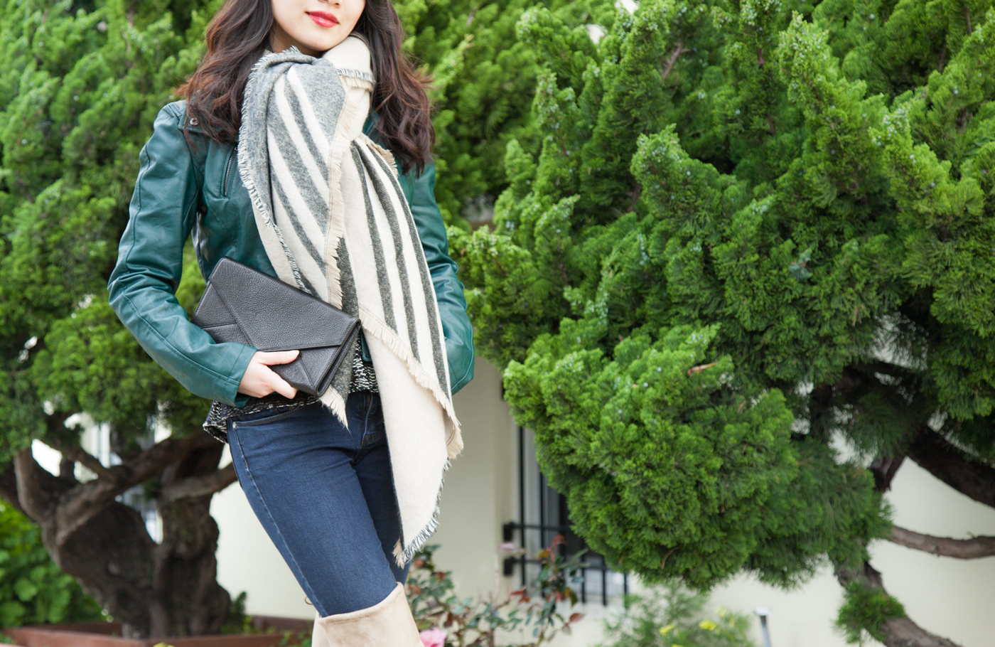 04.12.16: Neutral Warmth | Blanket Scarf & Knee-High Boots