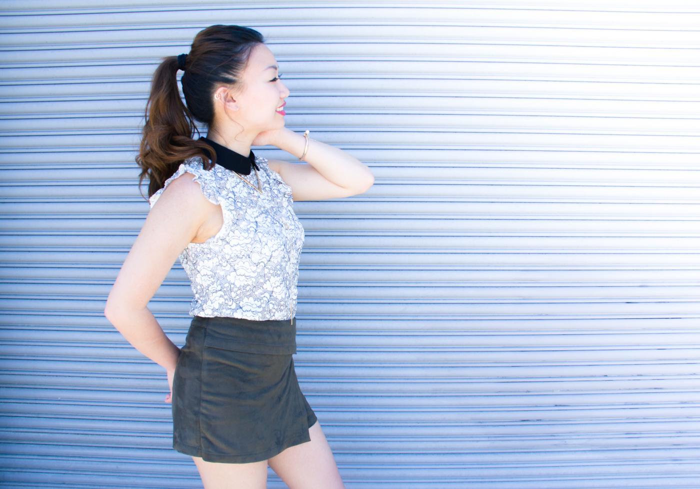Zara lace top | via The Chic Diary