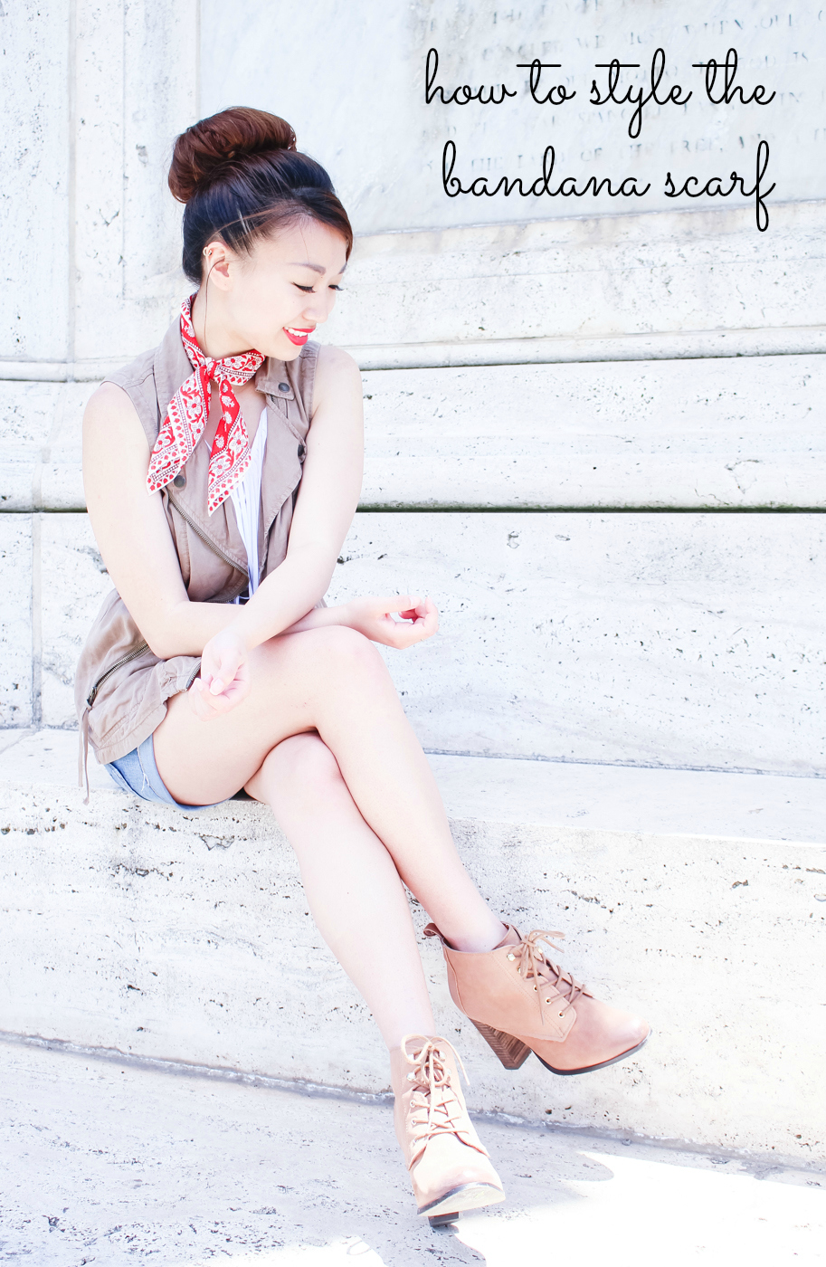 How to style the bandana scarf | The Chic Diary