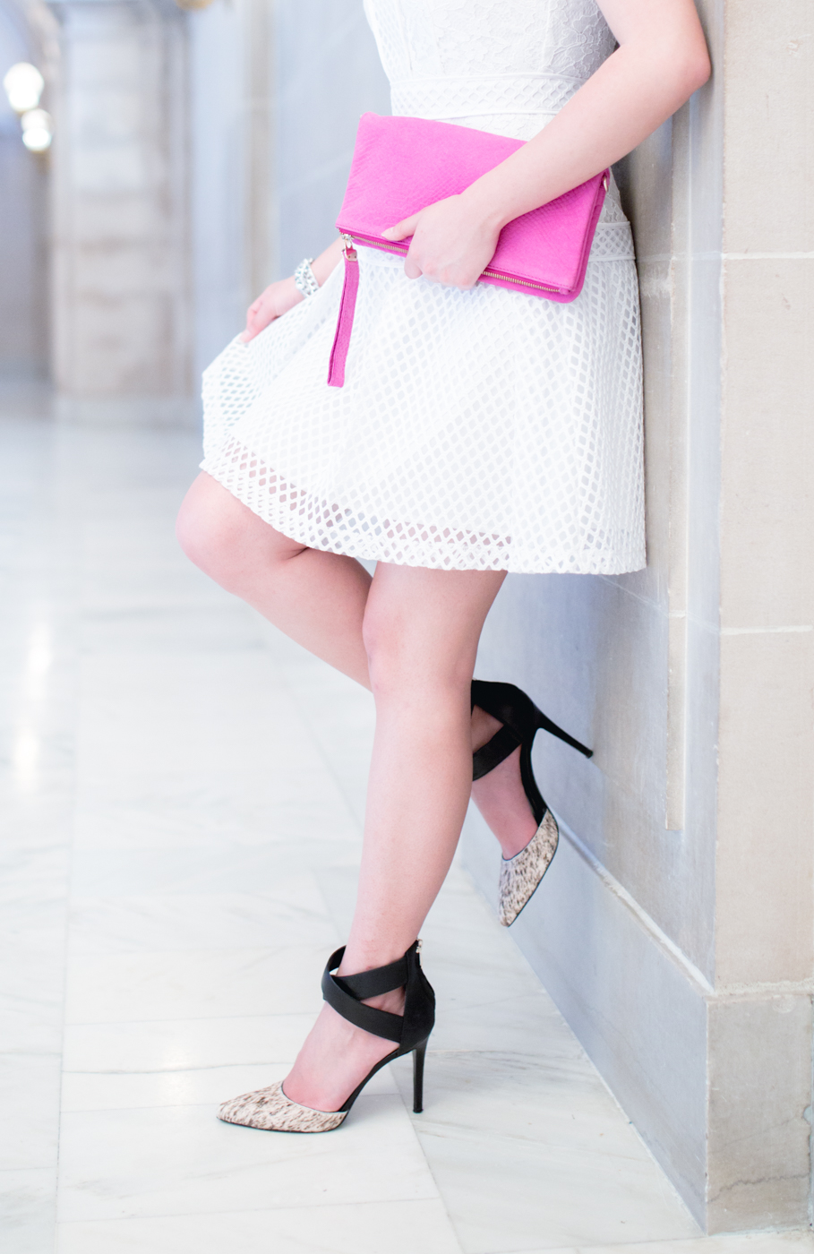Black, white, and pink. | The Chic Diary