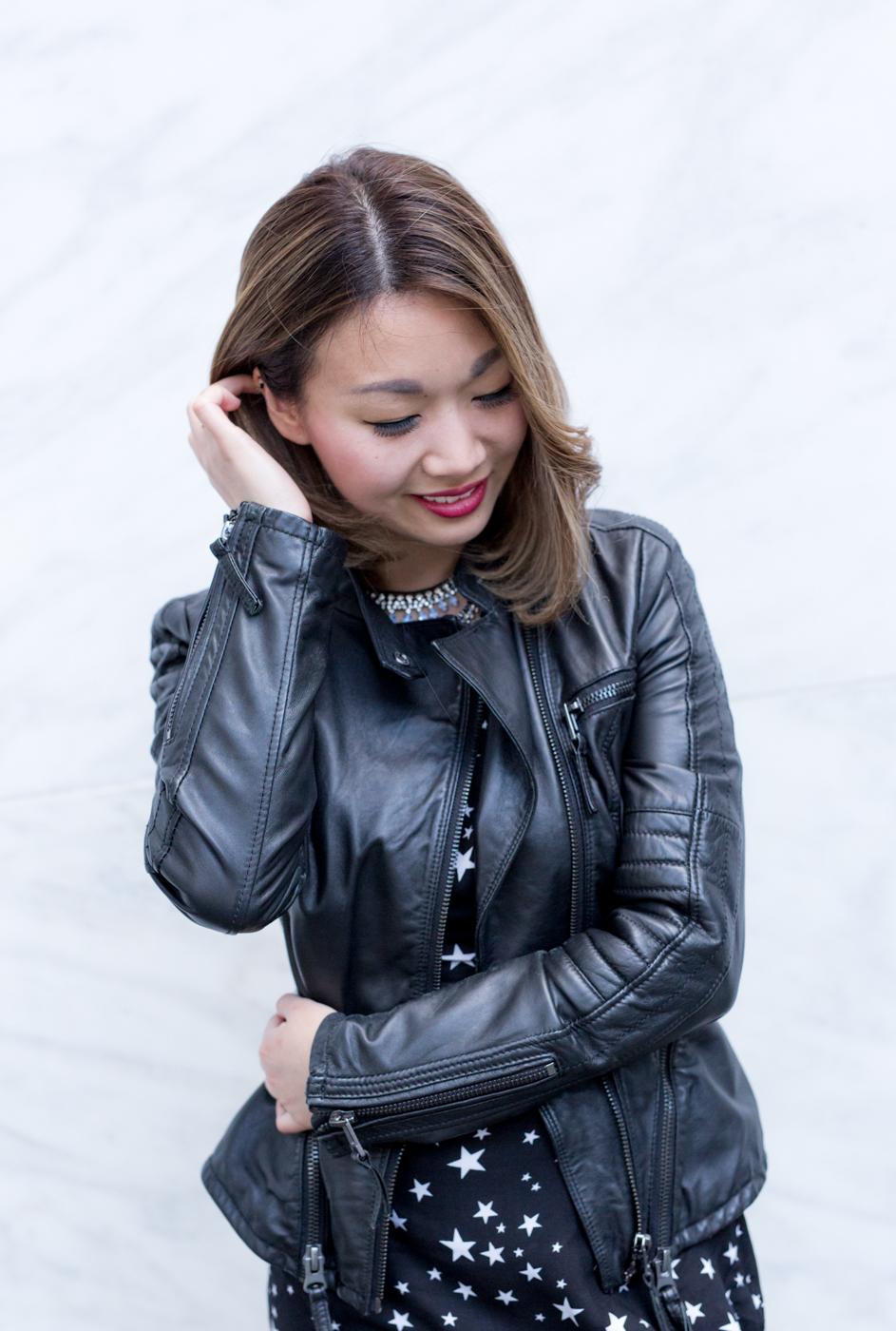 Zara Leather Moto Jacket | The Chic Diary