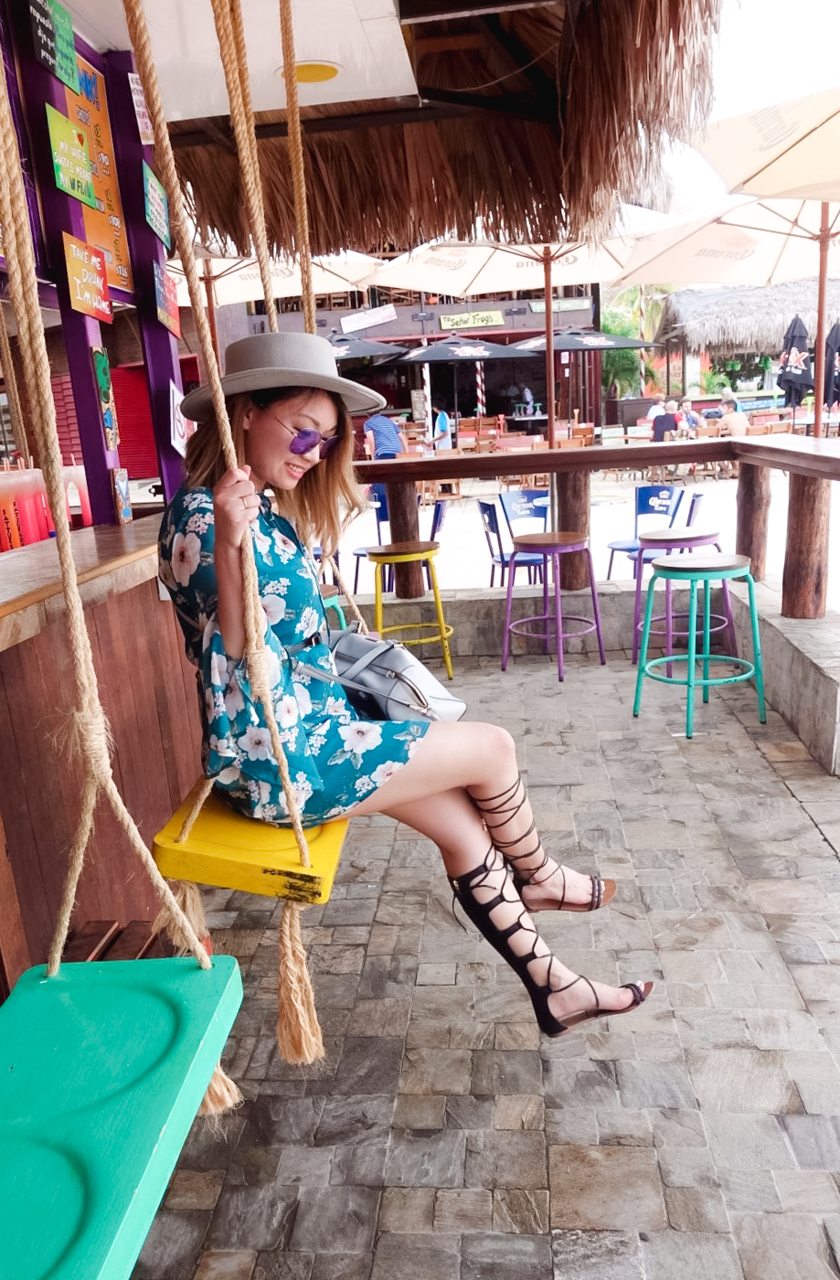 Bell-Sleeved Dress & Gladiator Sandals | The Chic Diary