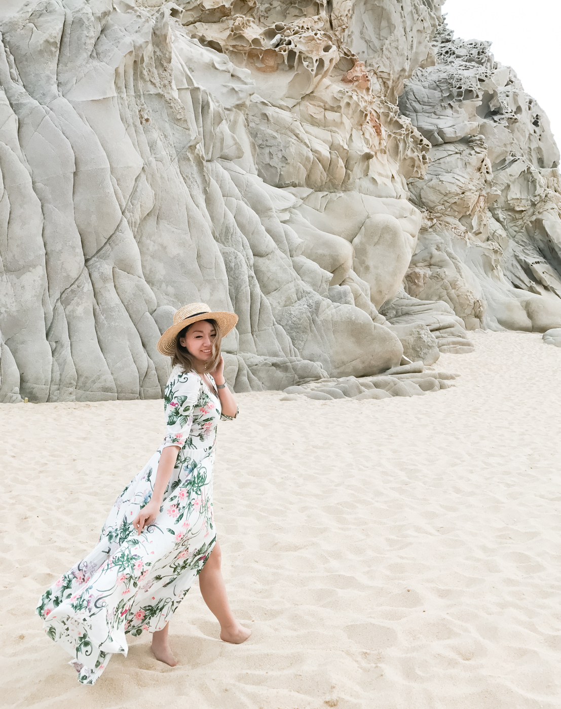ShowPo Lone Traveller Maxi Dress in White Floral | The Chic Diary