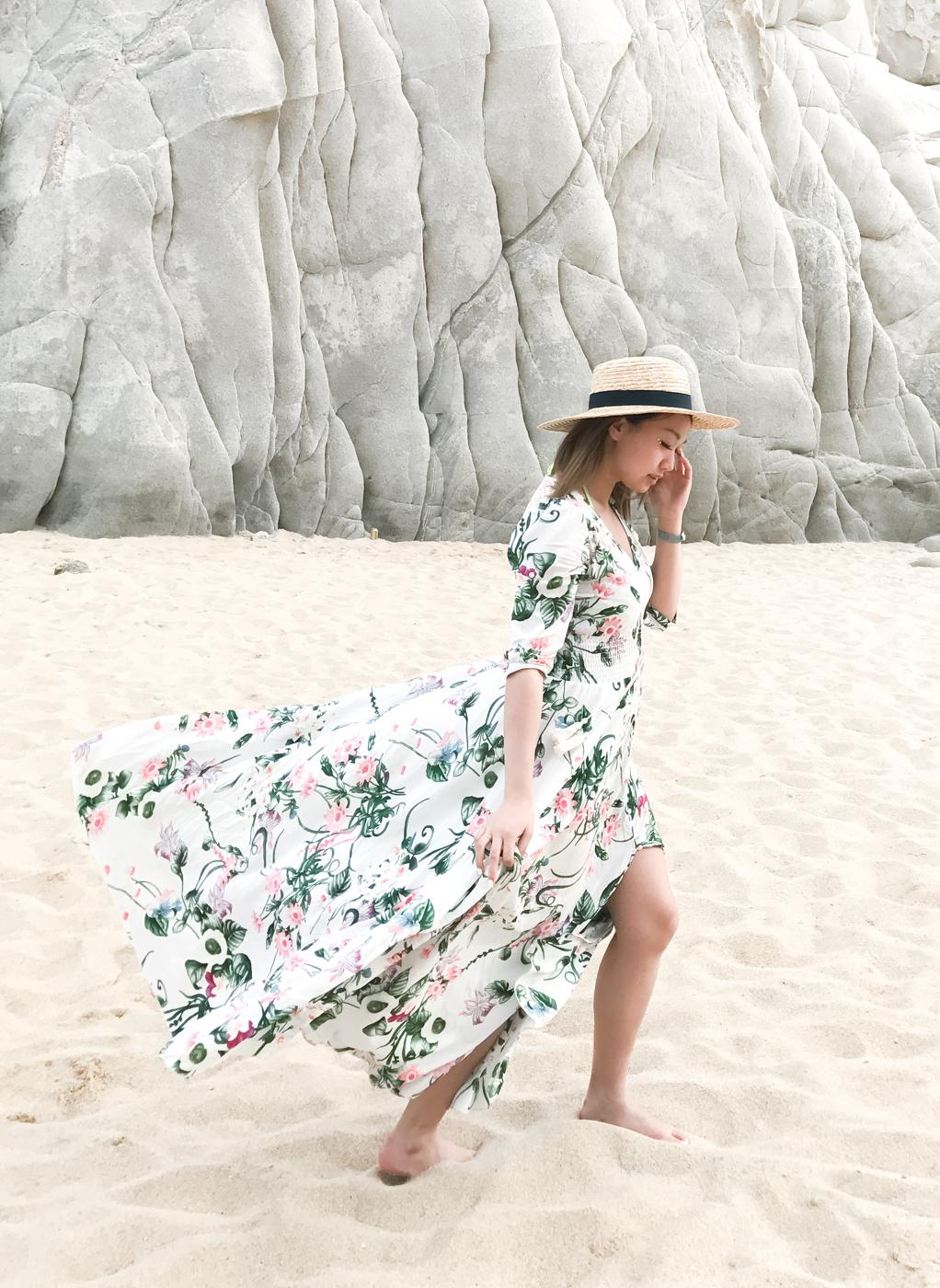 ShowPo Maxi Dress & San Diego Hat Company Straw Hat | The Chic Diary
