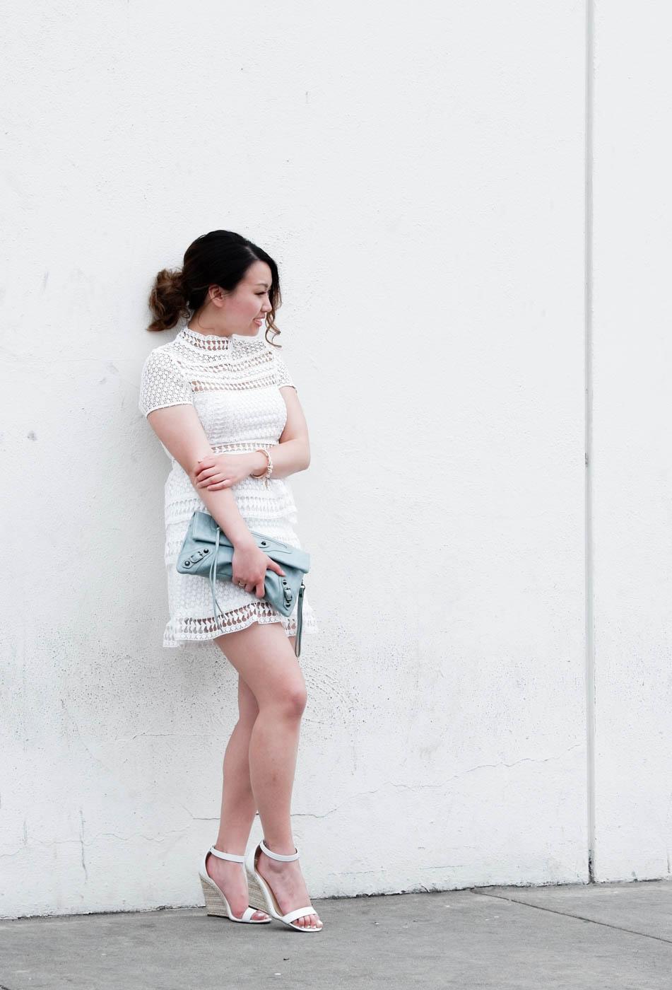 Tobi White Lace Dress | The Chic Diary