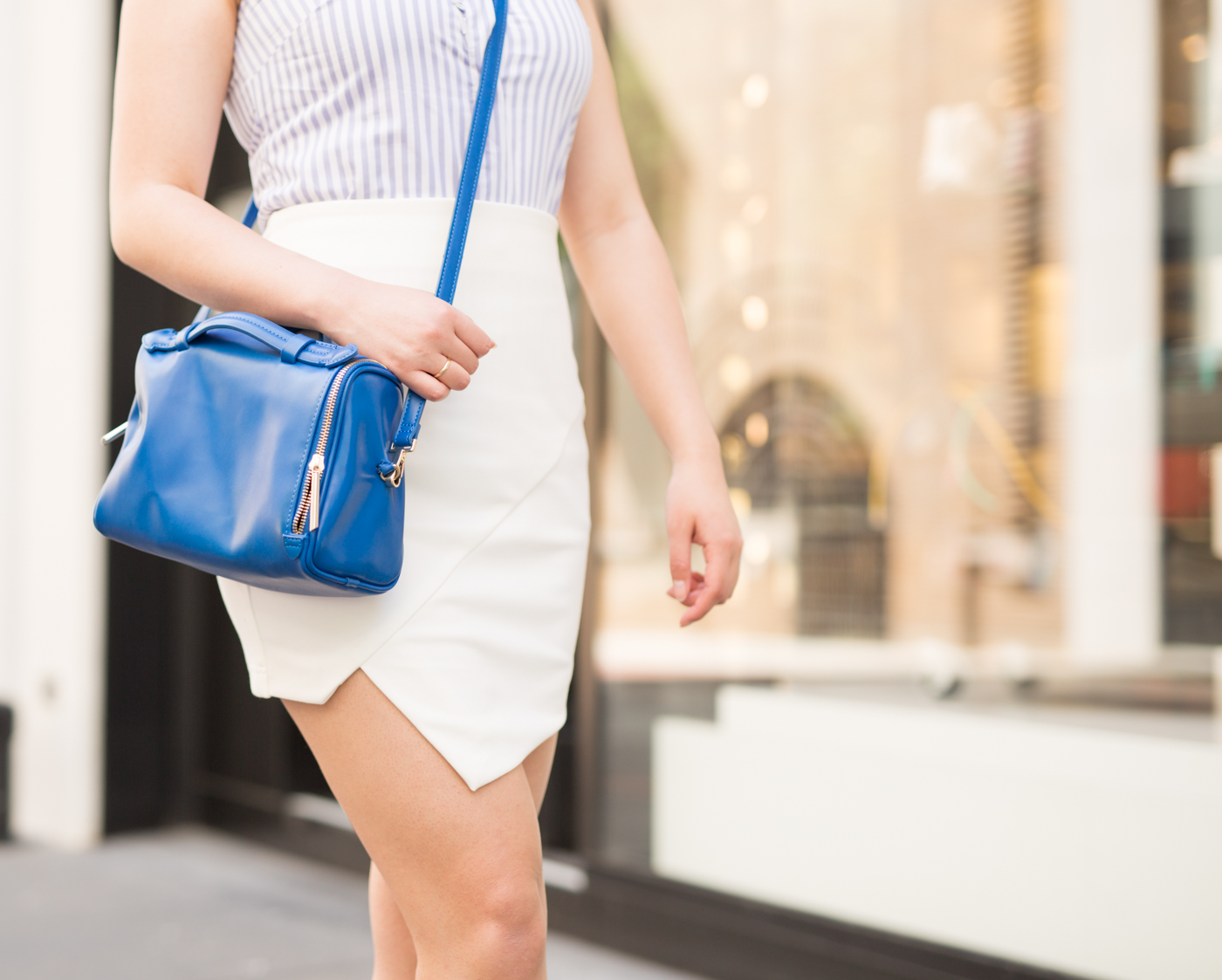 Tobi white asymmetric skirt | The Chic Diary