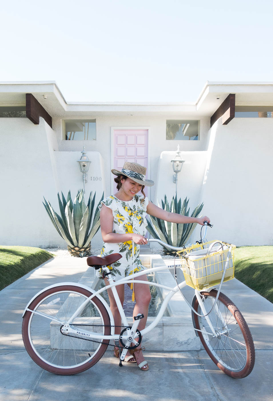 #ThatPinkDoor with the cutest romper and cruiser | The Chic Diary