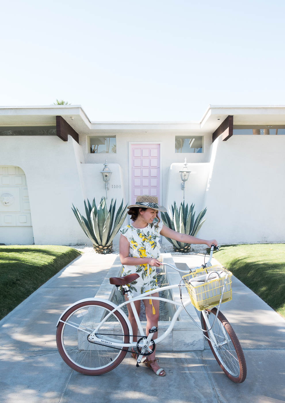 Took a bike cruise to see #ThatPinkDoor in Palm Springs! | The Chic Diary.jpg