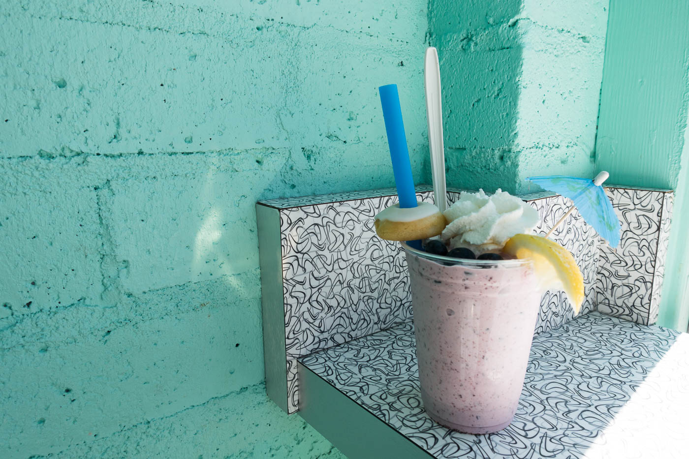 Blueberry hill shake with mini donut at Great Shakes, Palm Springs | The Chic Diary.jpg