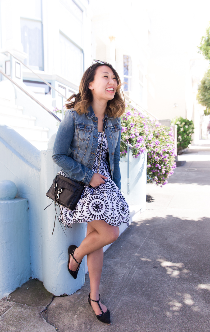 Denim Jacket Over Summer Dress | The Chic Diary